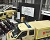 Im Rahmen der Fachmesse IPOMEX/ KRIFA  wurden 35 neue Gerätewagen für den Sanitätsdienst an die vier großen Hilfsorganisationen in NRW übergeben. Foto: Malteser NRW.
