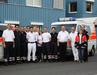 Einige der NFSU-Helfer mit Diözesanreferent Jan Locher und Pater Jürgen Langer von der Notfallseelsorge Bonn/ Rhein-Sieg.