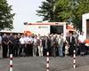 Viele Gäste kamen zur Einsegnung des neuen RTW der Malteser in Pulheim.  Foto: Onlinezeitung