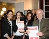 Laura Holz, Sophia Willerscheidt, Erwin Friedel und Laura Scheitzbach mit ihren Urkunden. Foto: Malteser Köln