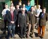 Foto: Diözesanleiter Prinz Croÿ (re.) mit den geehrten Mitgliedern und neu ernannten Helferinnen und Helfern. Foto: Böhnert/MHD