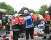 Die Malteser aus dem Kreis Euskirchen im Übungseinsatz bei einem schweren Verkehrsunfall. Foto: André Bung, Malteser Euskirchen.