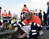 Die Malteser Jugend Euskirchen kümmert sich um die Verletzten bei der Feuerwehrübung in Kuchenheim.  Text und Foto Andre Bung, Malteser Euskirchen.