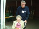 Werner Fockenberg bei seiner Helfertätigkeit in Kevelaer. Foto DGS Köln
