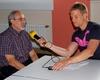 Dr. Herbert Breker (links) im Interview zur Pressekonferenz anlässlich des 5-jährigen Bestehens der Malteser Migranten Medizin Köln. Foto: Malteser Köln.