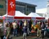 Der Infostand der Malteser auf dem Langenfelder Stadtfest 2013. Foto: Malteser Langenfeld.