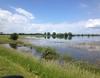 Trügerische Idylle: Im Rahmen der überörtlichen Unterstützung sind 120 Malteser Helfer aus dem Erzbistum Köln im Hochwassergebiet in Sachsen-Anhalt. Foto: Malteser