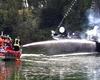 Spektakulärer Höhepunkt der Übung:  ein Brand auf dem Aalschoker
