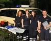 Malteser Helferinnen und Helfer des Sanitätspostens in Siegburg beim Bonner Einsatz