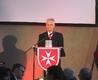 Heinz Löhrer beim Helferfest der Malteser in Rheinbach zum 50. Geburtstag der Gliederung. Foto: C. Merker.