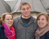 Der neue Jugendsprecher Tobias Schommertz mit seinen Stellvertreterinnen Bianca Heck (li.) und Hanna Groß. Foto: Jens Midderhoff/Malteser Bad Honnef