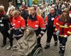 Helferinnen und Helfer der Bad Honnefer Malteser begleiten und betreuen alte und behinderte Pilger bei der Kevelaer-Wallfahrt. Foto: Malteser Bad Honnef.