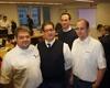 (v.l.n.r.): Frank Meurer, Boris Hiltawski, Dennis Martin und Robert Osten bei der Großübung. Foto: Archut/MHD