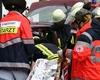 Einsatzübung beim Rettungsmeilenfest: Ein Eingeklemmter wird nach einem Fahrzeugzusammenstoß von den Honnefer Hilfsdiensten aus seinem blechernen Gefängnis befreit. Foto: Malteser Bad Honnef.