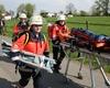 Die Malteser aus Bad Honnef bei der Übung in Bornheim. Foto: Ulf Krüger/MHD