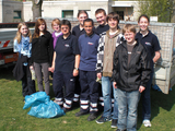 Das Frühjahrsputz-Team der Meckenheimer Malteser. Foto: Malteser Meckenheim.