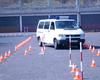 Auch Fahrerschulungen sind im Programmangebot. Hier zum Beispiel durchfährt ein Lehrgangsteilnehmer den vorbereiteten Trainingsparcour. Foto: Archiv.