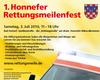 Plakat zum 1. Rettungsmeilenfest in Bad Honnef.