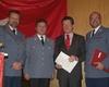 v.l.n.r.: Dr. Hans-Michael Höller, Albrecht Prinz von Croÿ, Günther W. Raths und Dr. Andreas Archut. Foto: Jens Müller/Malteser Bad Honnef